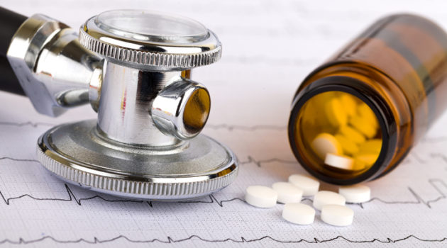 pills and stethoscope